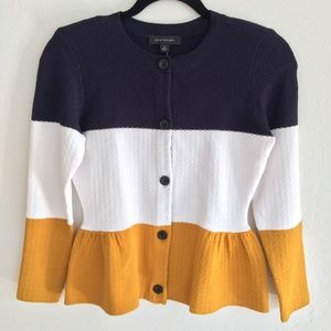 Striped Ann Taylor Button Up Sweater